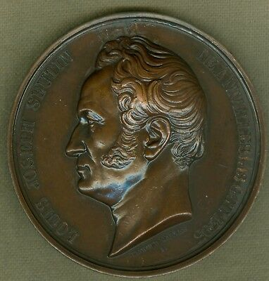 1852 Belgium Medal Issued to Honor Louis Joseph Seutin,  by Leopold Wiener