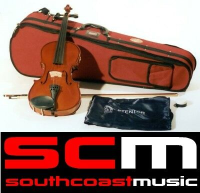 Stentor 1544 4/4 Size Violin Outfit Antique Chestnut W/ Case, Bow Set Up By Pro