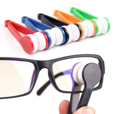 1pcs Spectacles Cleaning Eyeglass Wiper Sunglasses Cleaner Brush Microfiber