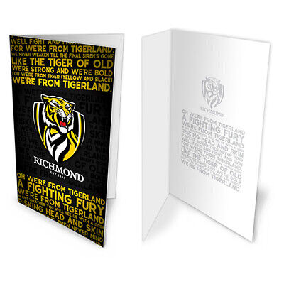 Richmond Tigers AFL Pole Game Day SUPPORTER  Flag Banner Birthday Gift AFL489JL