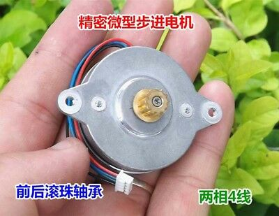 36mm 2-Phase 4-Wire 0.9° Micro Stepper Motor Double-Ball-Bearing w/ MXL Gear,DIY