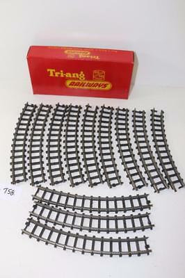 12 x Triang OO 1:76 R.193 Series 3 Curved Track Small radius FNQHobbys T58