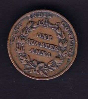 East India COIN ,YEAR 1835 ,One Quarter Anna Copper Coin