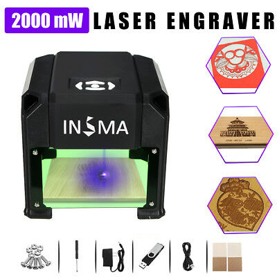 1500mW USB DIY Laser Engraver Cutter Engraving Carving Machine Printer US Plug