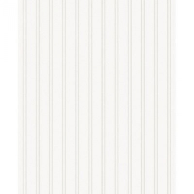 Graham and Brown Paintable Prepasted Beadboard Stripes Texture Wallpaper White