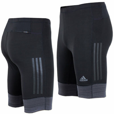 adidas Herren Laufhose Supernova Short Tight Running Fitness Hose schwarz-grau