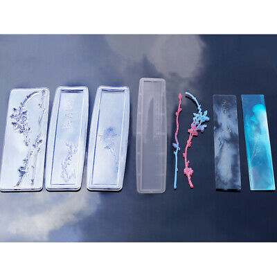 Rectangle Silicone Bookmark Mold DIY Mould Craft with Holes Epoxy Resin Mold