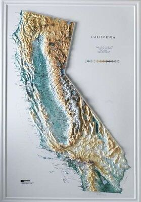 California State Raised Relief Map Raven Style