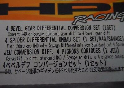 New HPI 4 Bevel Gear Differential Conversion Set 87193