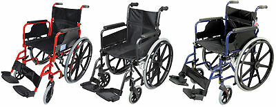Aidapt Deluxe Self Propelled Steel Wheelchair (Choose Your Colour)
