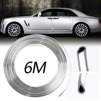 1pc 6M Chrome Moulding Trim Strip Car Door Edge Scratch Guard Protector Cover