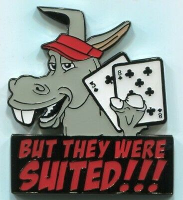 But They Were Suited!!! Metal Medallion Poker Card Guard Protector Cover