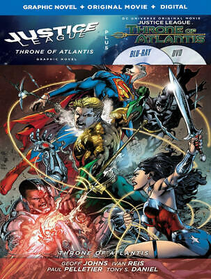 Justice League: Throne of Atlantis (Blu-ray/DVD, 2016, 2-Disc Set) NEW