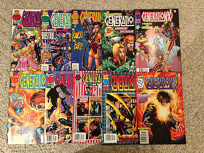 Generation X Comic Lot 10 Issues Lot B Marvel X-Men Banshee Jubilee Emma Frost