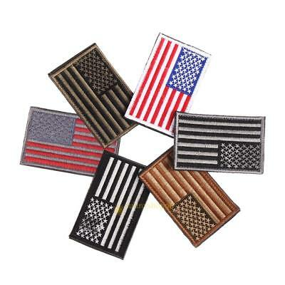 American Flag Embroidered Patch Patriotic USA Military tactics Iron Sew On Patch