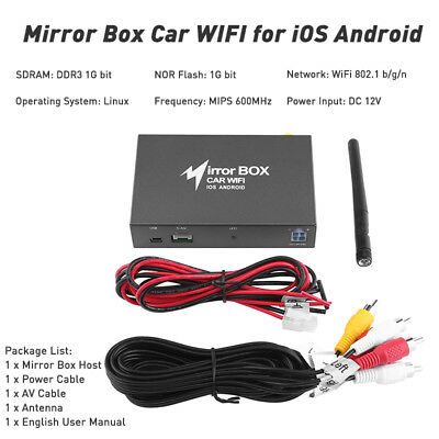 Car WIFI A/V Mirror converter Link Box for iOS Android Smartphone to LCD DLNA