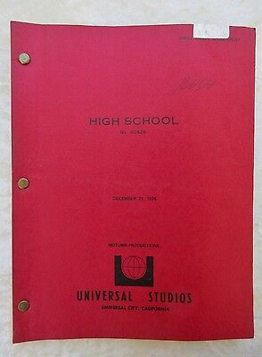 1976 Draft SCREENPLAY of ALMOST SUMMER w/ Studio Covers & Green Toned Sheets