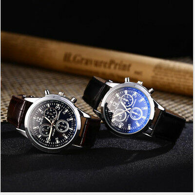 "Men""s Date Luxury Fashion NEW Faux Leather Military Analog Watch Watch"