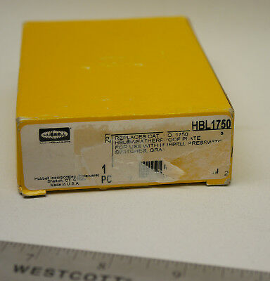 Hubbell HBL1750 Weatherproof Plate for Presswitch Switch NEW