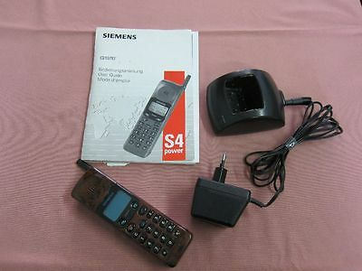 Siemens GSM S4 Power Handy mobile phone Ladestation & Bedienungsanleitung 17466