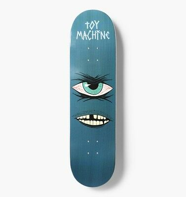 "Toy Machine Skateboard Deck Toothless 8.25"" FREE POST & FREE GRIP"