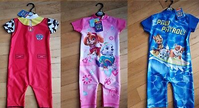 Boys & Girls Paw Patrol Nickelodeon All in One UV Protection Sunsuit Swinsuit