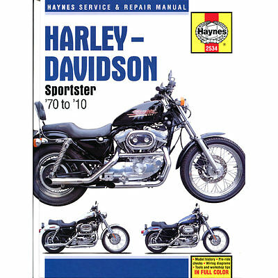 Harley-Davidson Sportsters XL XLH XLCH 1970-2010 Haynes Workshop Manual