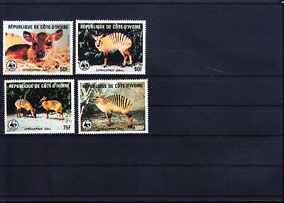 053378 WWF Rotwild Red Deer Cote D´ Ivoire ** MNH