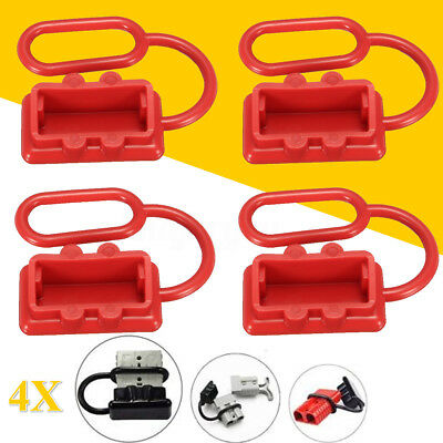 4pcs Plug Dust Cover End Cao For SB 50 AMP Connector(Red Rubber) for ANDERSON