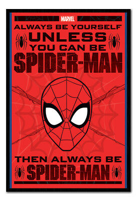 Framed Spider-Man Always Be Yourself Poster New