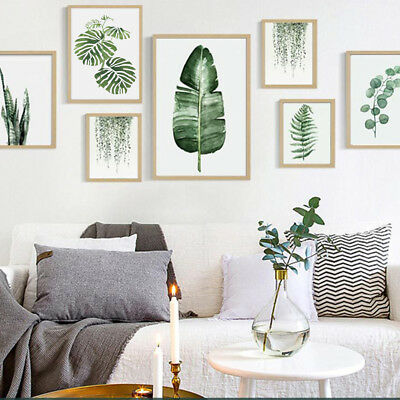 Nordic Style Pastoral Green Plant Modern Minimalist Decorative Painting Posh