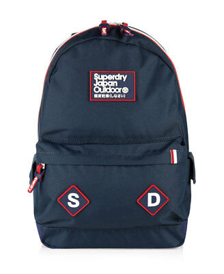 New Mens Superdry Trinity Montana Rucksack Navy