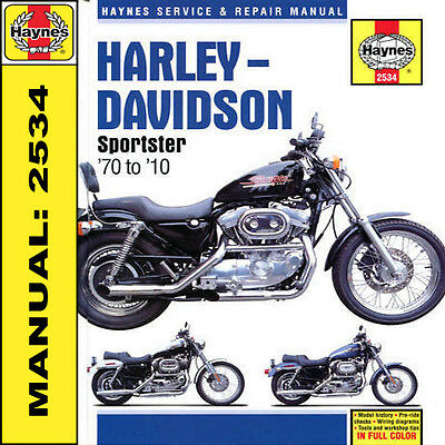 Harley Davidson 883 883R XL1000 1200 Sportster 1970-2010 Haynes Manual 2534 NEW