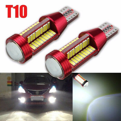 2x T10 501 194 W5W 4014 LED 78-SMD HID CANBUS ERROR FREE Auto Side Wedge Licht