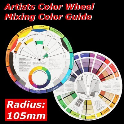 Artists Color Wheel Paunt Mixing Guide 105mm Pocket Artist Colour Kids Learn