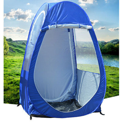 Outdoor Single Pop-up Tent Pod For Fishing Watching Sports C&ing Blue Clear A & OUTDOOR SINGLE Pop-up Tent Pod For Fishing Watching Sports Camping ...