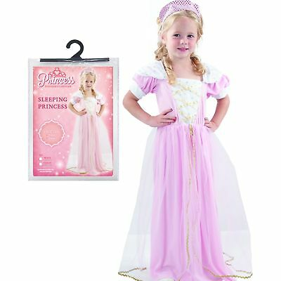 Ages 1-4 Girls Child Sleeping Princess Fancy Dress Party Costume Infant Toddler