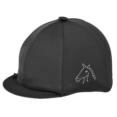 Capz Diamondz Lycra  Riding Hat/Skull Cap Cover