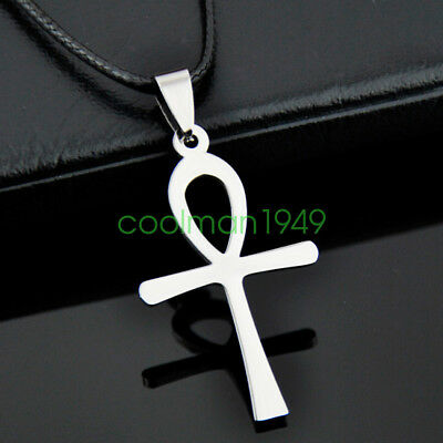 Fashion Ancient Egyptian Ankh Stainless steel Pendant necklace ST04