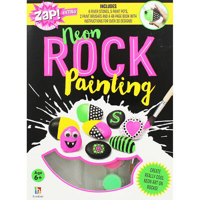 Neon Rock Painting Book and Kit by Jaclyn Crupi, Children's Books, Brand New