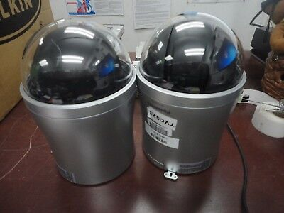 lot of 2 Panasonic WV-CS584 Super Dynamic 6 Day Night Dome Camera 36x Zoom