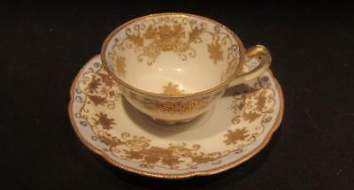 Trimont China Beautiful Vintage Demitasse & Saucer Hand Painted Design with Gilt