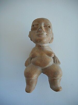 Ancient Precolumbian Terracotta Figure Ex West Coast Archeological Collection