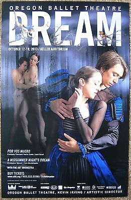 OREGON BALLET 2013 POSTER Dream Portland Oregon