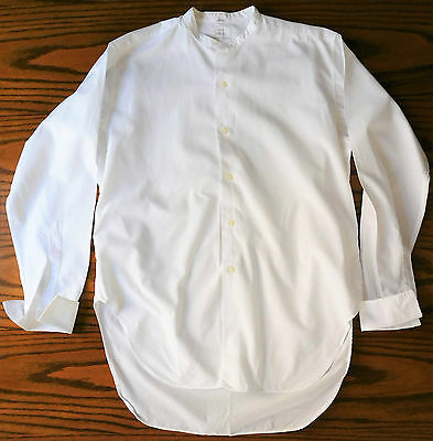 Vintage tunic shirt size 16 Ladybird Belfast mens formal day wear 1930s 1950s