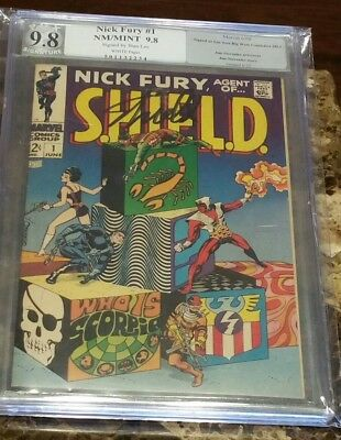 Nick Fury #1 Pgx Nm/mt(9.8) W/pgs **signed By Stan Lee** June 1968 Marvel Key!!