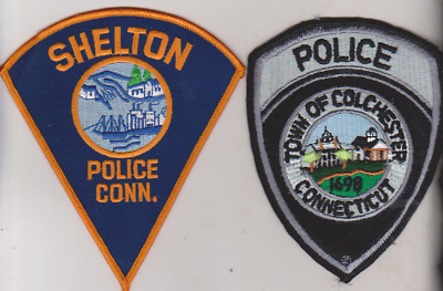 Colchester & Shelton CT Police patches