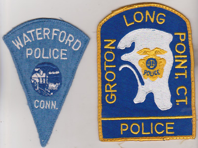 Groton Long Point & Waterford CT Police patches