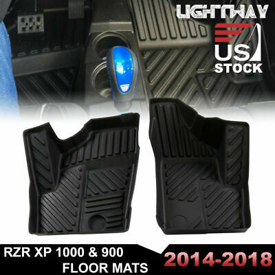 RZR XP 1000 900 Front Floor Mats Liner Set Polaris All Weather OEM New 2880414