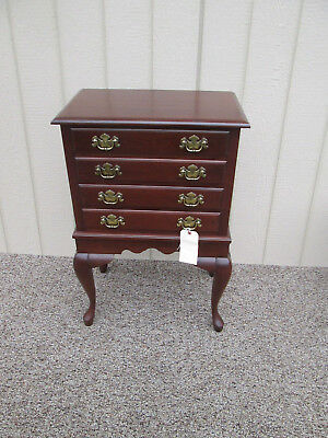 58440  Cresent Queen Anne Cherry Felt Lined Silver Chest